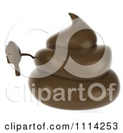 3d Milk Chocolate Or Poop Character Holding A Thumb Down