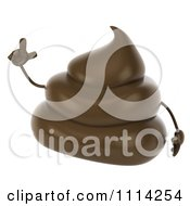 3d Milk Chocolate Or Poop Character With An Idea