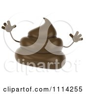 3d Milk Chocolate Or Poop Character Jumping