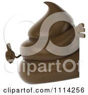 3d Milk Chocolate Or Poop Character Holding A Thumb Up Around A Sign