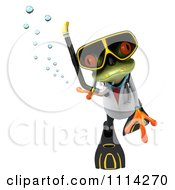 Clipart 3d Doctor Frog In Scuba Gear 3 Royalty Free CGI Illustration