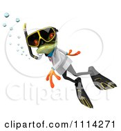 Clipart 3d Doctor Frog In Scuba Gear 2 Royalty Free CGI Illustration