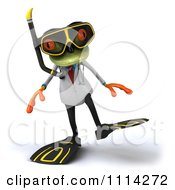 Clipart 3d Doctor Frog In Scuba Gear 1 Royalty Free CGI Illustration