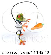 Clipart 3d Doctor Springer Frog Chasing A Carrot On A Stick 3 Royalty Free CGI Illustration