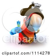 Clipart 3d Pirate Macaw Parrot Pointing Royalty Free CGI Illustration by Julos