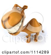 Clipart 3d Smiling Camel Royalty Free CGI Illustration