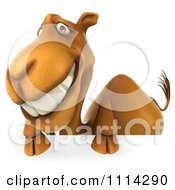 Clipart 3d Camel With A Sign 1 Royalty Free CGI Illustration
