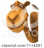 Clipart 3d Camel With A Sign 2 Royalty Free CGI Illustration