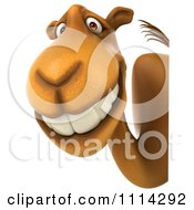 Clipart 3d Camel With A Sign 3 Royalty Free CGI Illustration