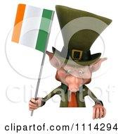 3d Leprechaun Holding An Irish Flag 7