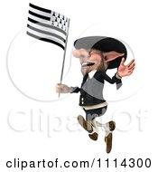 3d Korrigan Dwarf With A Breton Flag 4