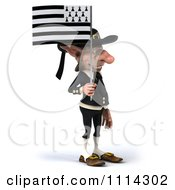 3d Korrigan Dwarf With A Breton Flag 2