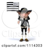 3d Korrigan Dwarf With A Breton Flag 1