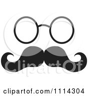 Black And White Mustache With Glasses