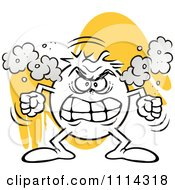 Clipart Angry Moodie Character Fuming Royalty Free Vector Illustration
