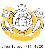 Clipart Angry Moodie Character Going Crazy Royalty Free Vector Illustration