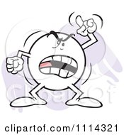 Clipart Angry Moodie Character Waving A Finger And Shouting Royalty Free Vector Illustration