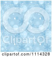 Clipart Seamless Blue Snowflake Pattern Royalty Free Vector Illustration by dero