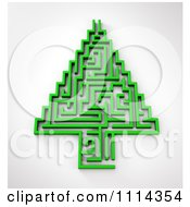 Clipart 3d Green Maze Christmas Tree Royalty Free CGI Illustration by Mopic
