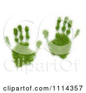 Clipart 3d Grassy Hand Prints Royalty Free CGI Illustration