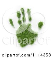 Clipart 3d Grassy Hand Print Royalty Free CGI Illustration