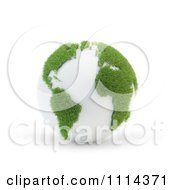 Clipart 3d Globe With Grassy Continents Royalty Free CGI Illustration by Mopic
