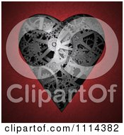 Clipart 3d Gear Cogs In The Shape Of A Heart Framed By Red Royalty Free CGI Illustration