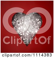 Clipart 3d Gear Cog Wheels In The Shape Of A Heart Framed By Red Royalty Free CGI Illustration