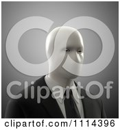 Clipart 3d Faceless Mute Man Over Gray Royalty Free CGI Illustration