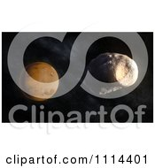 Clipart 3d Mars Larger Moon Phobos With Stickney Crater Visible Royalty Free CGI Illustration