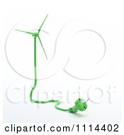 Clipart 3d Green Electric Cable And Plug Forming A Windmill Royalty Free CGI Illustration by Mopic