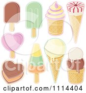 Clipart Assorted Ice Cream Desserts Royalty Free Vector Illustration by Any Vector