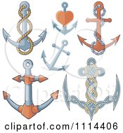 Clipart Nautical Anchors Royalty Free Vector Illustration by Any Vector