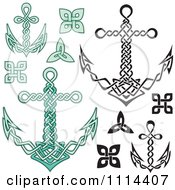 Clipart Nautical Celtic Anchors Royalty Free Vector Illustration