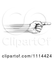 Clipart Black And White Speed Lines Creating A Pointing Hand Royalty Free Vector Illustration