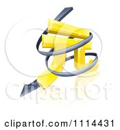 Clipart 3d Spiraling Arrow Around A Golden Yuan Currency Symbol Royalty Free Vector Illustration