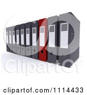 Clipart 3d Red And Gray Lever Arch Office Binders Royalty Free CGI Illustration