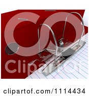 Clipart 3d Lever Arch Office Binder With Ruled Paper Royalty Free CGI Illustration
