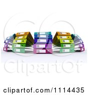 Clipart 3d Colorful Office Binders Royalty Free CGI Illustration by KJ Pargeter