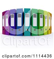 Clipart 3d Colorful Office Ring Binders Royalty Free CGI Illustration by KJ Pargeter