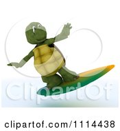 Clipart 3d Tortoise Surfing Royalty Free CGI Illustration by KJ Pargeter