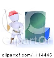 Clipart 3d Illegal Download White Character Pirate With A Green Folder Royalty Free CGI Illustration by KJ Pargeter