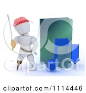 Clipart 3d Illegal Music Download Pirate White Character By A Green Folder Royalty Free CGI Illustration by KJ Pargeter