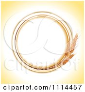 Clipart Round Wheat Frame With Copyspace Royalty Free Vector Illustration by elaineitalia