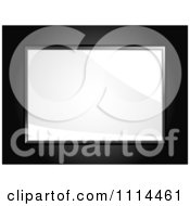 Clipart 3d Glossy White Board Over Black Royalty Free Vector Illustration