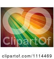 Clipart Grungy Rainbow Lines Royalty Free Vector Illustration