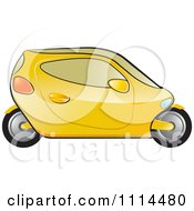Clipart Yellow Mobike Car Royalty Free Vector Illustration