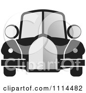 Clipart Vintage Gray And Black Car Royalty Free Vector Illustration