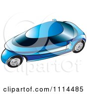 Clipart Blue Mobike Car Royalty Free Vector Illustration