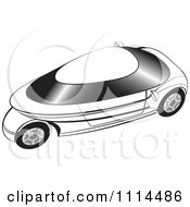 Clipart Black And White Mobike Car 2 Royalty Free Vector Illustration by Lal Perera